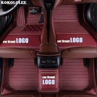 kokololee car floor mat for JEEP LOGO JEEP Compass Wrangler Patriot Cherokee Liberty Grand Cherokee Commander Renegade Floor Mat