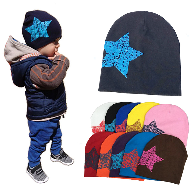 06a3e2f419f New baby Hat winter Caps Colorful Print Star Baby Beanie For Boys Girls  Cotton Knit Hat Children Winter Hats Solid Cap