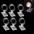 6pcs/Lot Clear Plastic Jewelry Bracelet Bangle Watch Display Holder Stand Rack Organizer Retail Shop Showcase Shelf