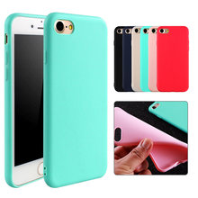 Nova Plain Cores Silicone Soft Phone Case TPU Fosco Soft Case Alta Flexibilidade de Volta Capa Para iphone 6 6s 7 7 Plus 8 8 Plus X(China)