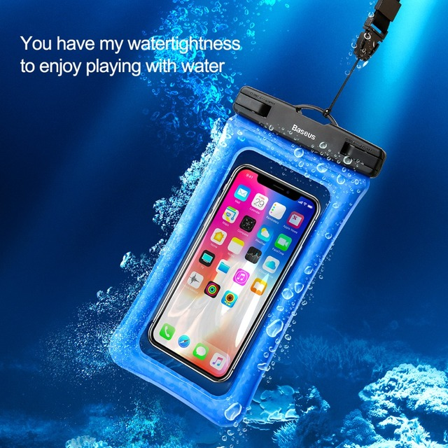buy popular bf023 a270d US $12.19 |Baseus IPX8 Waterproof Case for Huawei P20 Lite Cushion  Waterproof Fingerprint Identification Bag with Strap for iPhone 7 8 Plus-in  Phone ...