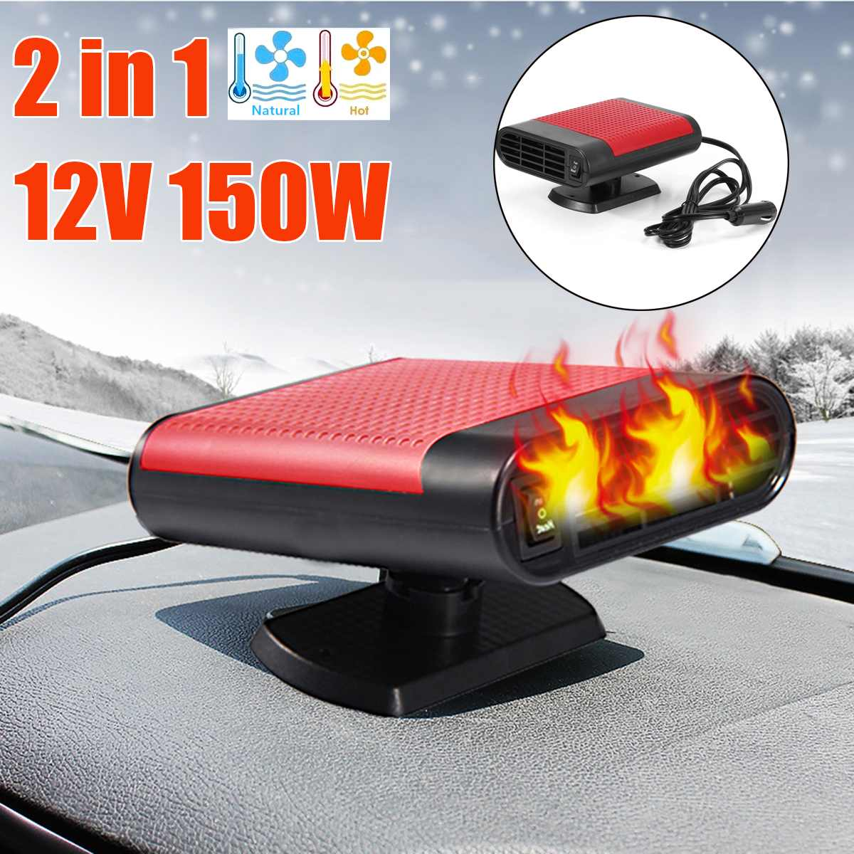 Car & Truck Parts Buy Cheap 3 Hole Dc 12v Auto Car Heating Cooling Heater Defroster Demister Universal 80w