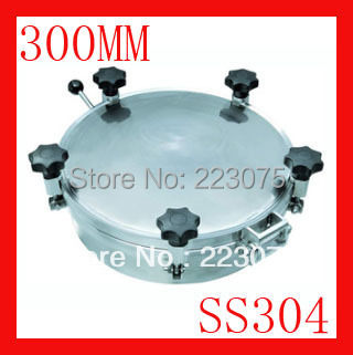 New arrival 300mm SS304 Circular manhole cover with pressure Round tank manway door Height:100mm Hatch new arrival 450mm ss304 circular manhole cover without pressure height 100mm tank hatch