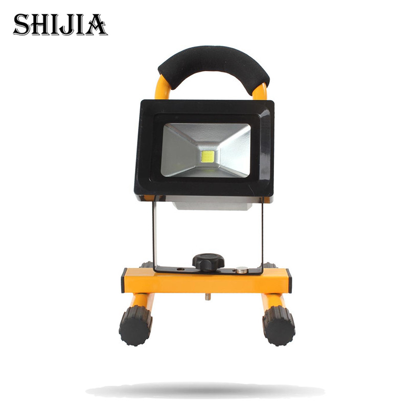 ФОТО 10W Cordless Rechargeable LED Flood Light Outdoor Portable LED Flood Light Work Lamp for Camping / Hiking