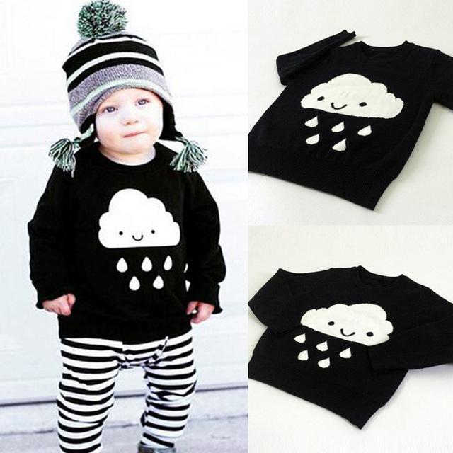 2016 primavera INS caliente de la madre y el hijo / hija ropa suéter nube de lluvia suéteres niños chicas chicos madre hijo trajes para niños trajes