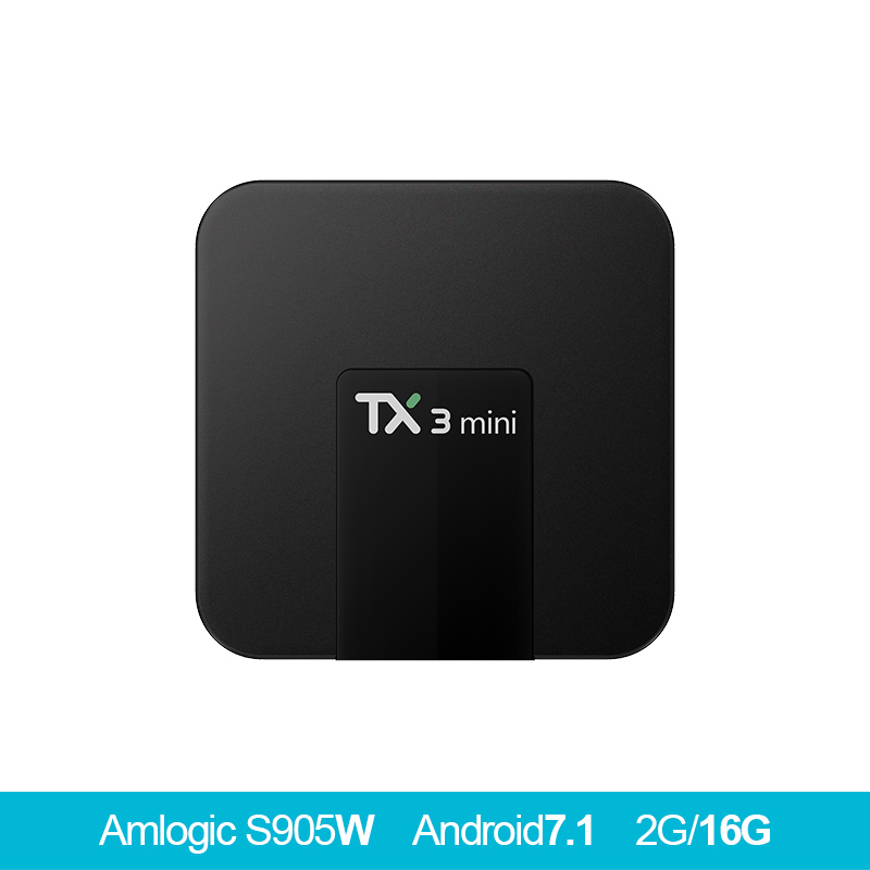 TX3 Mini Android 7.1 TV BOX Amlogic S905W Quad Core Smart TV Set Box H.265 4K HDMI 2.4GHz WiFi Support Mali-450 penta tv beelink tx95w tv box amlogic s905w cpu mali 450 gpu support 2 4g wifi bluetooth 4 0 tv set box android tv box 2g 16g memory