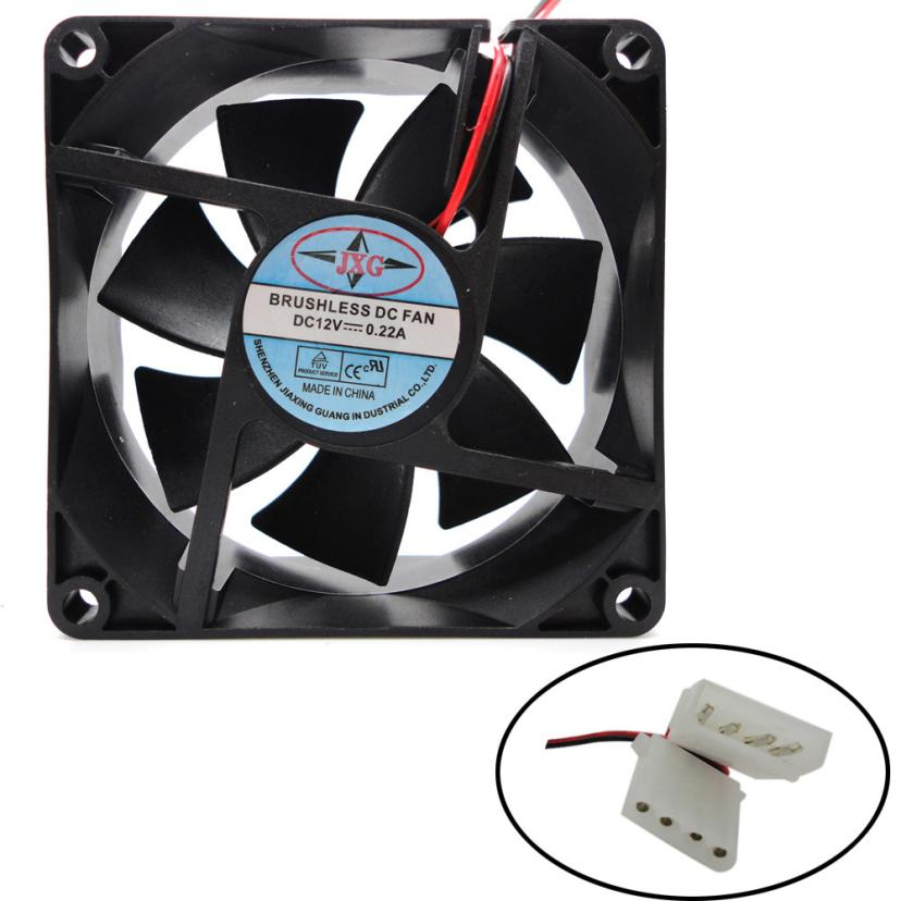 cpu cooler master rgb cooling fan 1pcs 80X80X25MM 12V 4Pin DC Brushless PC Computer Case Cooling Fan 1800PRM for Radiator image