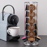 360 rotación 24 cápsulas de café soporte dispensador cápsulas de café dispensador Torre soporte se ajusta Nespresso cápsula estante de almacenamiento|Conjuntos de utensilios de café| |  -