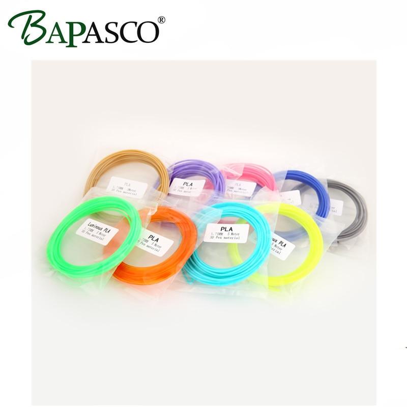 20 color or 15 color or 10 color set 5Meter Color 3D Pen Filament PLA 1