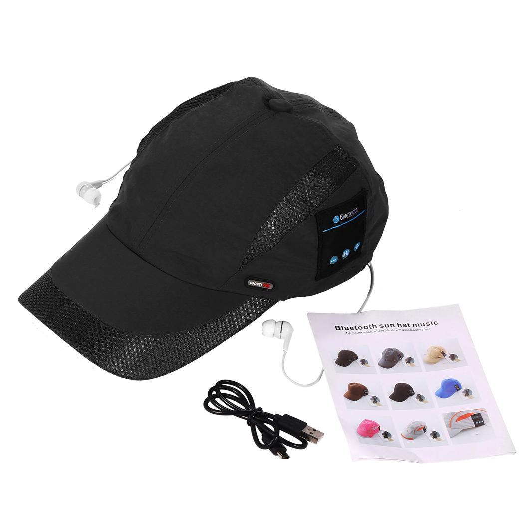 Wireless Bluetooth Headphones Cap USB Charging Music Hat Sport Running Headband Earphone Built-in Microphone Handsfree Headset
