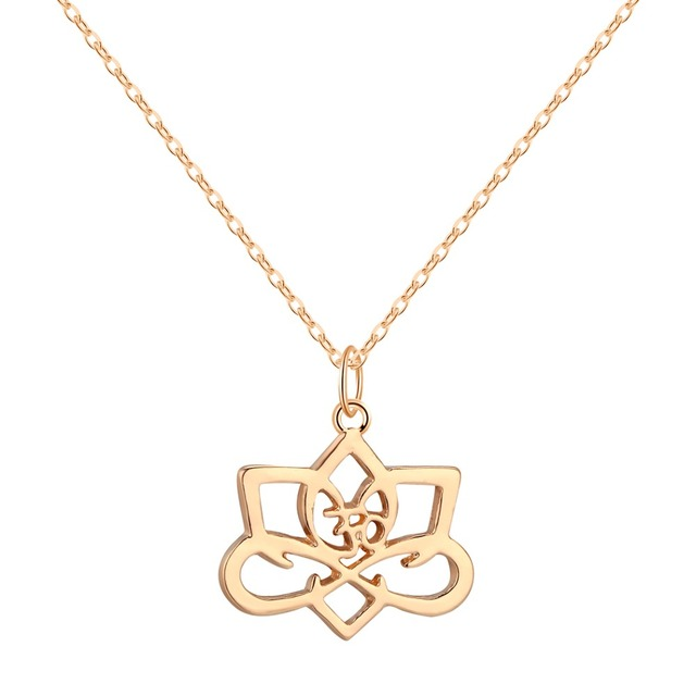 ce496ce48010b US $1.03 48% OFF|CHENGXUN Big Lotus Flower Symbol of Spiritual Awakening  Charm Pendant Necklace Gold over Choker-in Pendant Necklaces from Jewelry &  ...