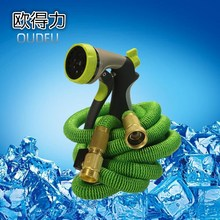 8 function expandable garden hose spraying  zinc alloy flexible hose nozzle