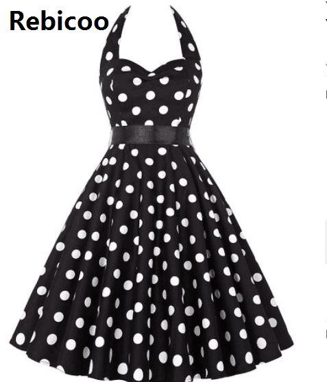 US $13.99 |Summer Style Lady Retro Vestidos Women Vintage 50s Dress Big  Swing Polka Dot Backless Rockabilly Dress Plus Size-in Dresses from Women\'s  ...