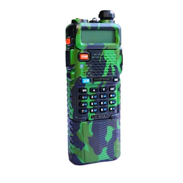 Walkie Talkie BaoFeng UV8HX de doble banda VHF/UHF con PTT militar Radio UV82 Baofeng UV-5R UV5R Radio portátil comunicador