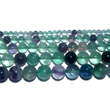 Wholesale Natural Stone Fluorite Round Loose Beads 4 6 8 10 12 MM Pick Size For Jewelry Making DIY Bracelet Necklace Material purple fluorite natural stone loose round beads for jewelry making diy fluorite stone beads material 4 6 8 10 12mm wholesale