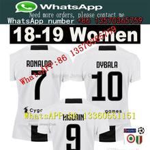 ed3c892e4e Mulheres Juventus Juventus camisas de Futebol em casa 18 19 RONALDO Camisas de  futebol Das Mulheres