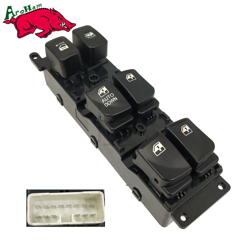 Aroham With DOWN 93570-1E110 Master Power Control Window Switch For Hyundai Accent 2007-2008 935701E110 for hyundai elantra front left driver side master power window switch 2001 02 03 04 05 2006 93570 2d000