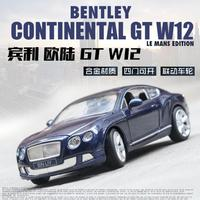 1:24 Toy Car Excellent Quality Bentley GT W12 Metal Car Toy Alloy Car Diecasts & Toy Vehicles Car Model Toys For Children