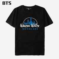 BTS Breaking Bad T Shirt Men Cotton Meth Lab Heisenberg Tshirts Cotton Men Funny Hip Hop