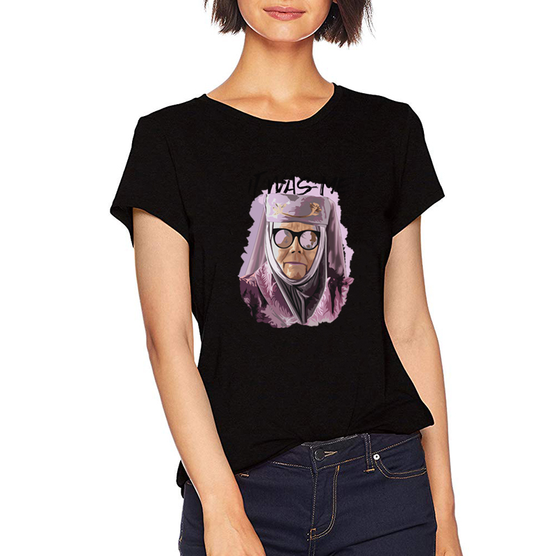 New It Was Me Old Women Print Game of Thrones Graphic T Shirts Polyester Slim Tops Summer 2019 Black Womens Shirts MD15 4