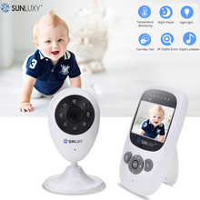 On sale SUNLUXY 2.4 inch Video Baby Monitor Digital LCD 2.4GHz Wireless Night Light Baby Camera Zoom Two Way Talk Babycam Music Battery