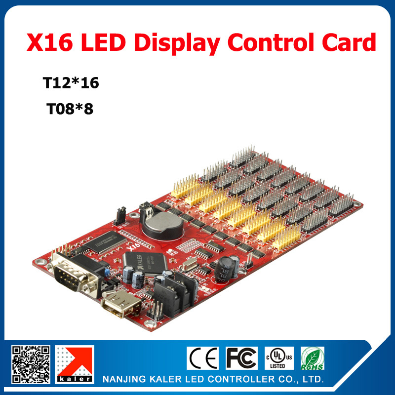 Kaler Kaler X16 Moving Text  LED Control Card Support Multi-language Programmable Display Controller Support 256x9999pixel