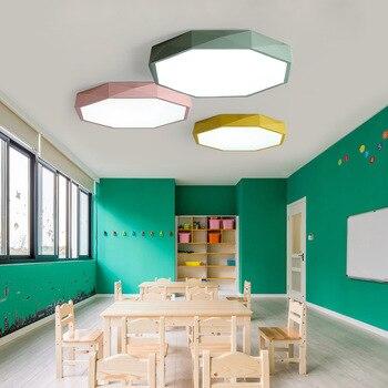 Ultra-thin 5CM colours ceiling lamp High brightness jewel LED ceiling lights Children's room lighting Ceiling Lights hall Ceiling Lights
