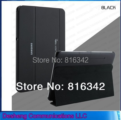 Business Style Smart Cover 3 Folding Stand PU Leather Case Samsung Galaxy Tab Pro 10.1 T520/T525 case + +Stylus - Desheng (HK store Trading Co., Ltd.)