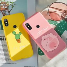 ASINA Pink Piggy Case For Xiaomi Redmi Note 6 Pro Silicone Cover Matte 3D Relief Shockproof Bumper 5 Fundas