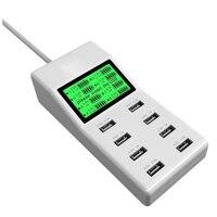 ABD AB İNGILTERE Çok Lcd Ekran ile 8 Usb Portu Şarj Dc voltmetre akıllı duvar şarj için yotaphone 2 doogee x5 s6 18650 cep telefon