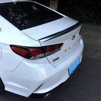 Fit For Hyundai Sonata 9 Black Spoiler 2018 2019 High Quality ABS Plastic Spoiler Primer Color Car Tail Wing Rear Trunk Spoiler