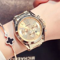GITMO роскошные золотые для женщин часы лучший бренд золотой повседневное Кварцевые женские наручные Нержавеющая сталь водонепроница...