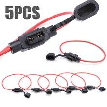 5Pcs Auto Zekeringhouder Dc 12V Waterdichte Voedingscontact Mini Blade Type In Line Zekeringkasts Accessoires