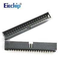 Free Shipping 10pcs 2 54mm 2x20 DC3 40 Pin Straight Male Shrouded PCB IDC Socket Box