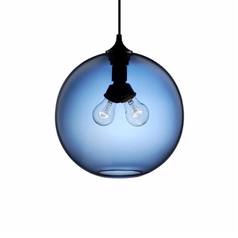 Shop For Colored Glass Ball Pendant Lamp Uberlightingstore