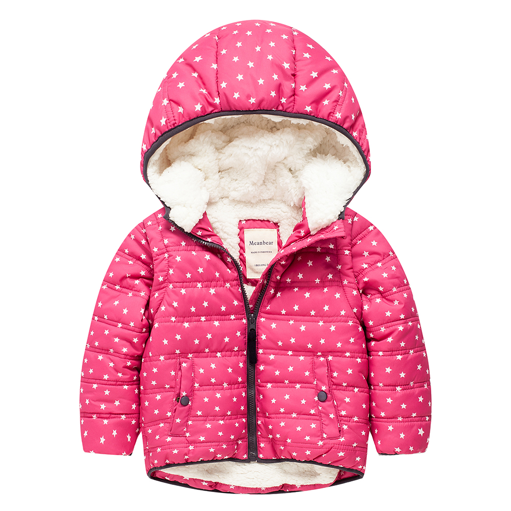 Meanbear M49 Fashion Hedgehog Winter Cotton Chirden Thicken Padded Lining Jacket Hoodies Keep Warm Boy Girl Coat Tops Outwear m43 spring autumn winter child thicken padded lining jacket hoodies boy