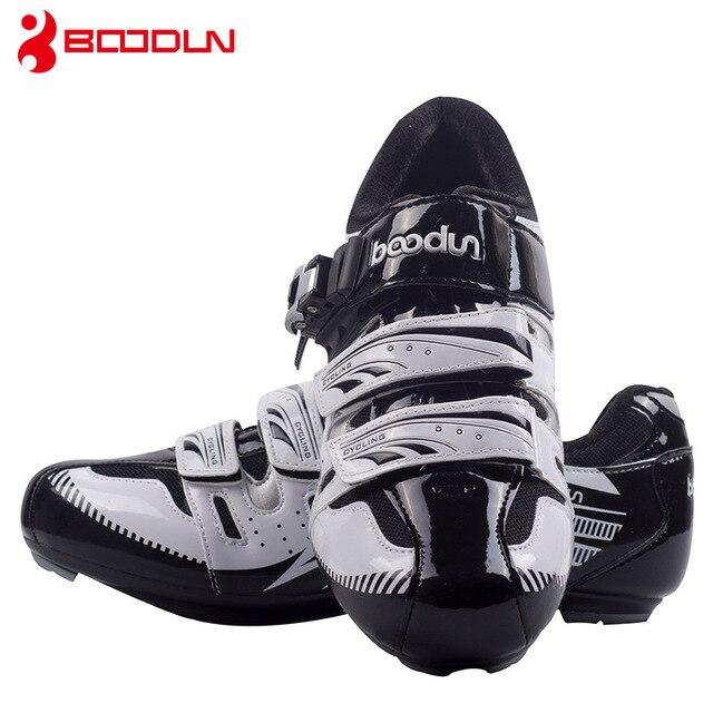 Boodun sapatos de ciclismo respirável antiderrapante profissional auto-bloqueio da bicicleta sapatos de corrida mtb estrada sapatos de ciclismo 3