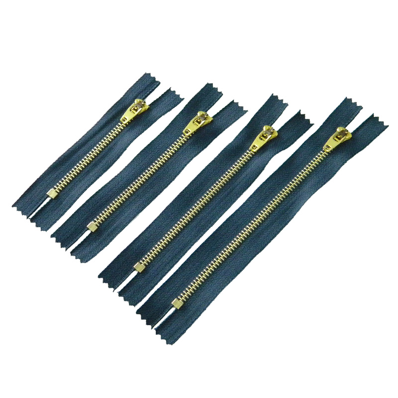20pcs navy marine mixed Brass semi lock metal zipper YG slider puller Closed-end metal zippers for jeans repair accessories