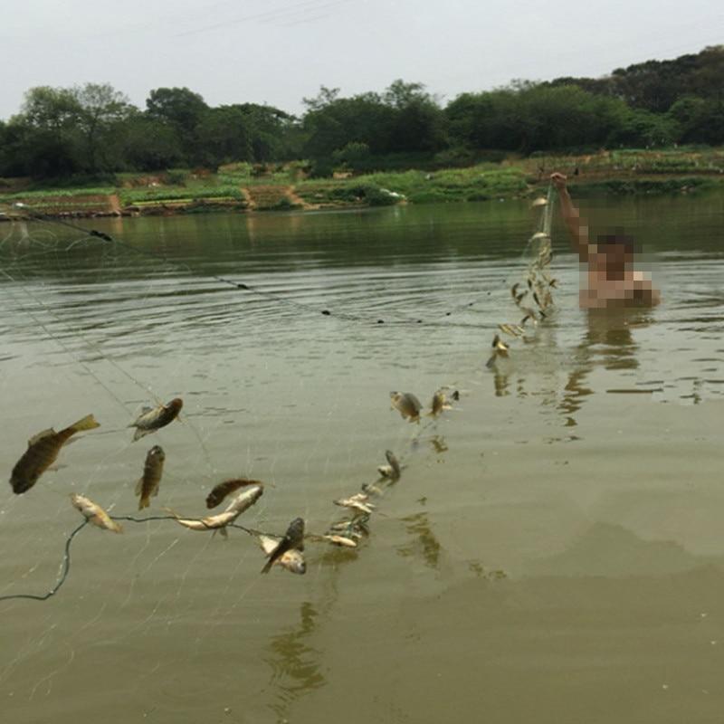 de pesca ao ar livre ferramenta amarelo forte rede de nylon