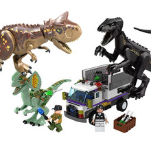 Compatible With Dinosaur Toy Tyrannosaurus Rex Jurassic Simulation Animal Assembling Building Blocks Boys toy