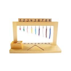 Di legno Matematica Montessori Materiale Montessori Gancio Color Perla Scale 1-9 In Età Prescolare Giocattoli Educativi di Apprendimento Per I Bambini MG2864H
