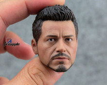 "1/6 scale figure doll figure male Head carved head shape for 12"" action figure doll accessories Iron Man Tony Robert Downey Jr.(China)"