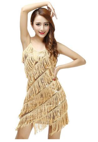 Sequin Sexy Women Stunning Flapper Fringe 1920s Gold Vintage Great Gatsby Charleston Sequin Party Latin Dance