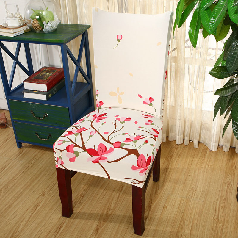 1pc durable spandex polyester universal office computer cute flower cactus pattern chair cover christmas party dining seat cover