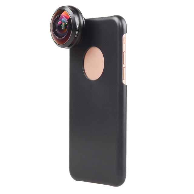 APEXEL Mobile Phone Lens 238 degree super fisheye lens, 0.2X Wide angle lens with back case and clip for iPhone 6 6s plus 7 2