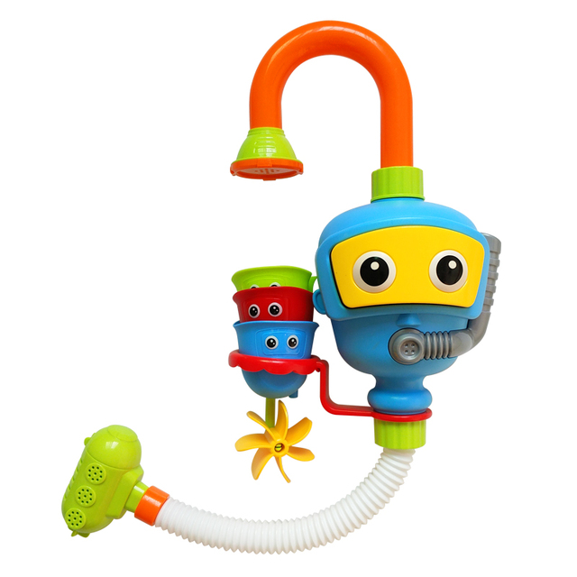 Cartoon Baby Bath Toys For Children Shower Water Wheel Educational Toy Bathroom Accessories Infant Kids