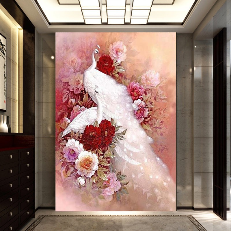White Peacock Diamond Painting 31