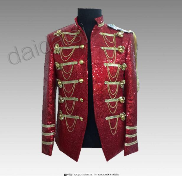 Bling Bling Men Blazer Mens Burgundy Blazer Sequin Jacket Club Dresses Men Costumes Performance Jacket Man S-3xl Blazers Men's Clothing