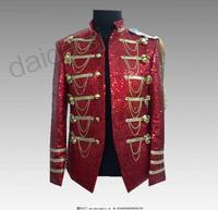 Bling Bling Men Blazer Mens burgundy blazer sequin jacket Club Dresses Men Costumes Performance Jacket Man S 3XL