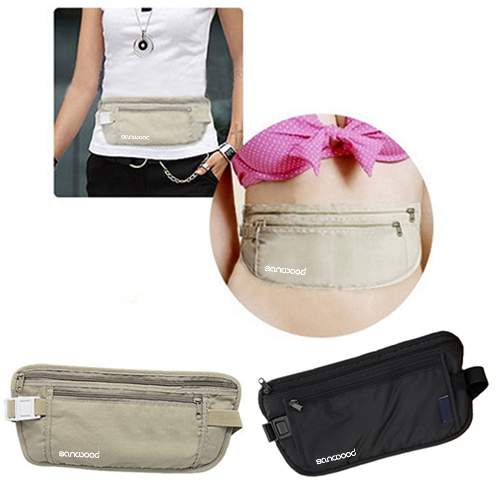 Fashion Women's Waist Packs Sports Traveling Storage Zipper Waist Bags Pouch Money Female Waist Belt Bag Fanny Packs Phone Pouch